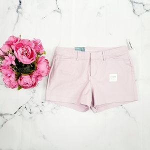 Old Navy, Pixie Twill Shorts, Lavender, 6 Regular